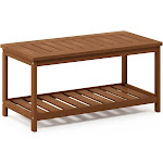 Ormond Hardwood Coffee Table with Shelf in Teak Oil by Havenside Home