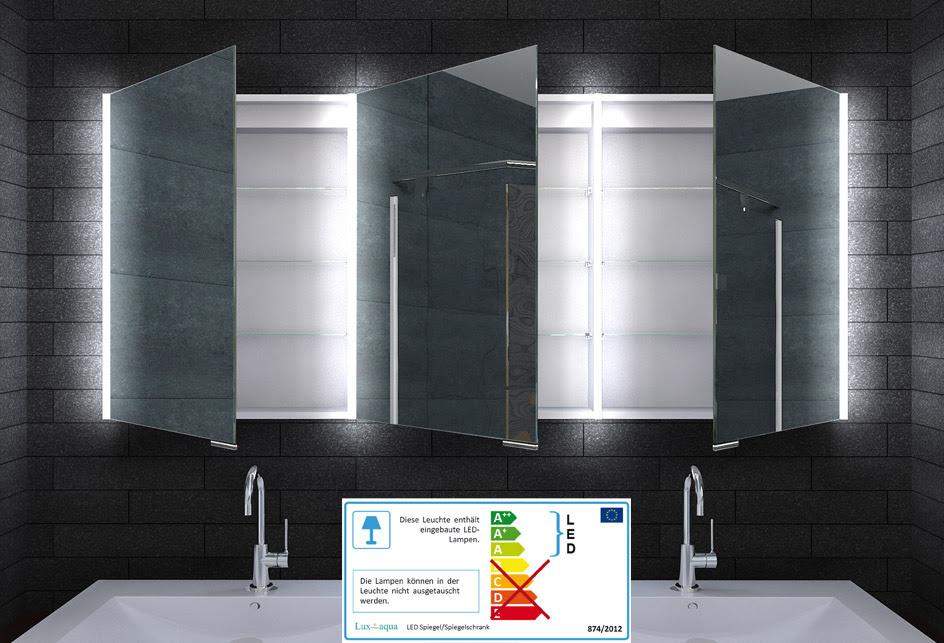 Alu Badschrank badezimmer spiegelschrank bad LED ...