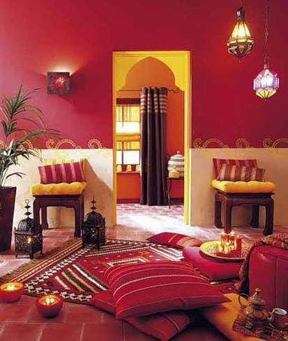 Moroccan style tea room