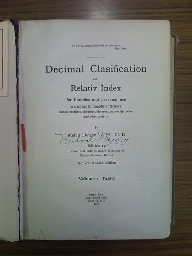 Decimal Clasification and Relativ Index