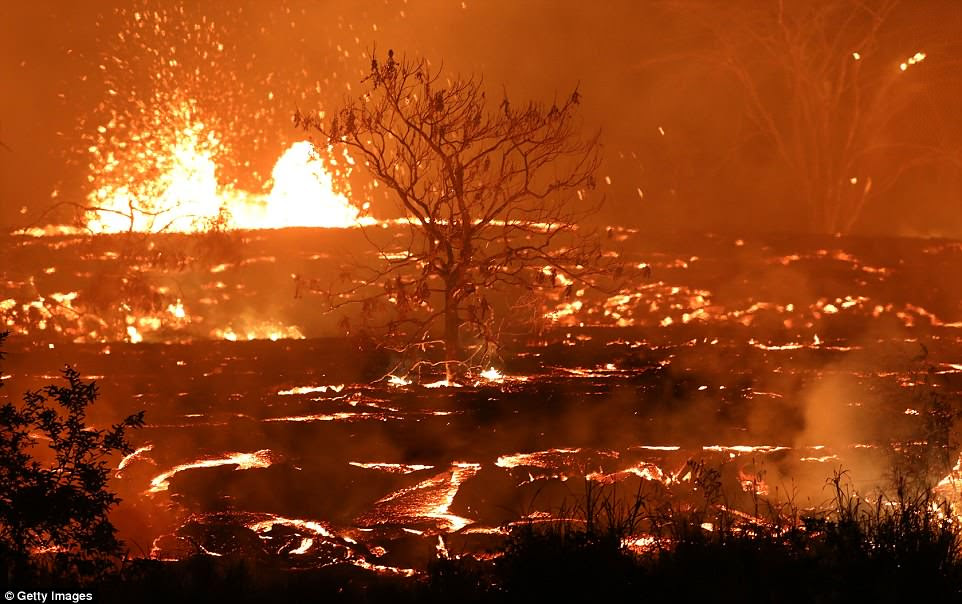 The USGS says previously, lava coming from Kilauea had been in the volcano since a similar incident in 1955
