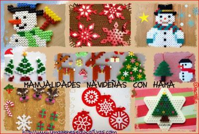 manualidades navideñas con hama Collage