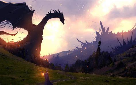 dragon fantasy wallpaper  desktop mobile