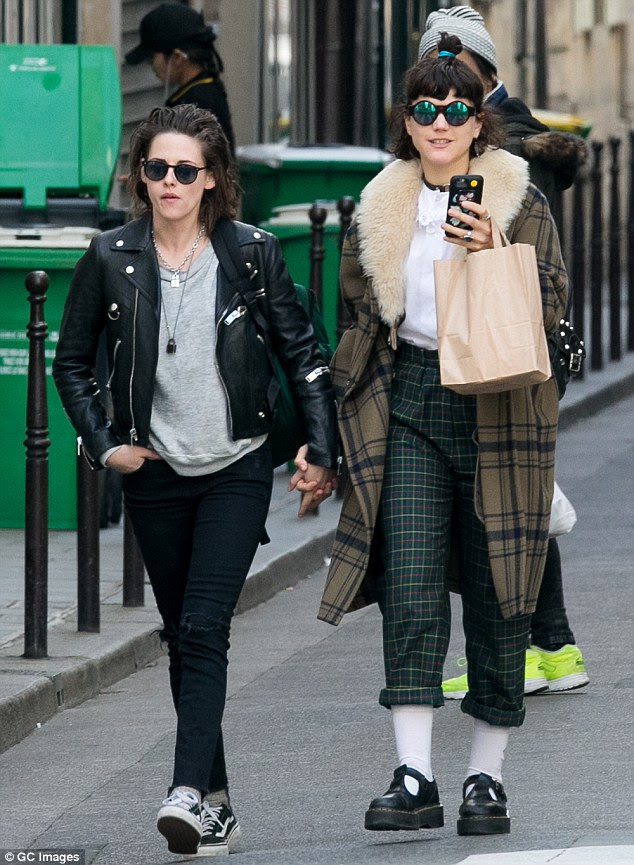 Just the two of us: The 25-year-old actress and 30-year-old musician - real nameStéphanie Sokolinski - have been enjoying their time together in the city of lights as they were also seen holding hands