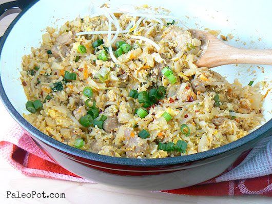 One-Pot Paleo Pork Fried Rice - PaleoPot - Easy Paleo Recipes - Crock Pot / Slow Cooker / One-Pot