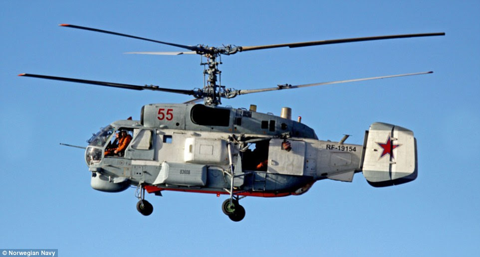 The Russians have be flying operations with their Kamov KA-27 helicopters which can be used in anti-submarine warfare