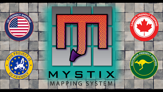 Mystix Mapping System - Static Cling Maps for Tabletop RPGs