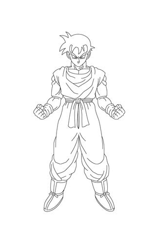 Son Gohan Is Ready For A Fight Coloring Page Free Printable