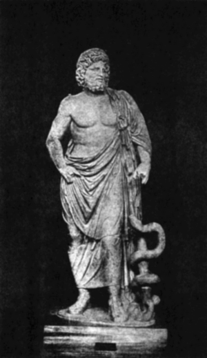 Statue of Asclepius, Greek god of Medicine
