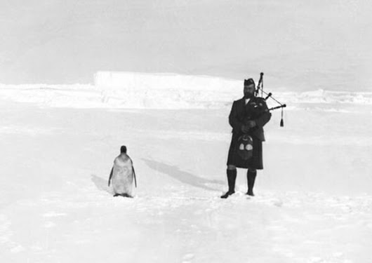 Extreme Bagpiping Situations, From Antarctica to the Beaches of D-Day
