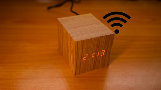 Wooden Digital Clock is controlled over WiFi - Electronics-Lab