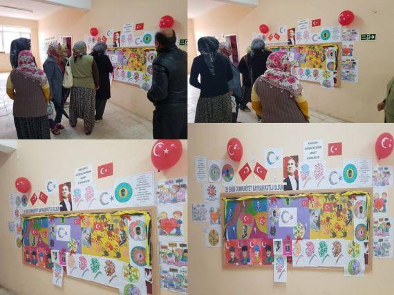 29 Ekim Cumhuriyet Bayramı Temalı Anasınıfı Sanat Etkinliği Sergisi