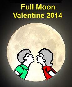 2014 Full Moon Valentine Day