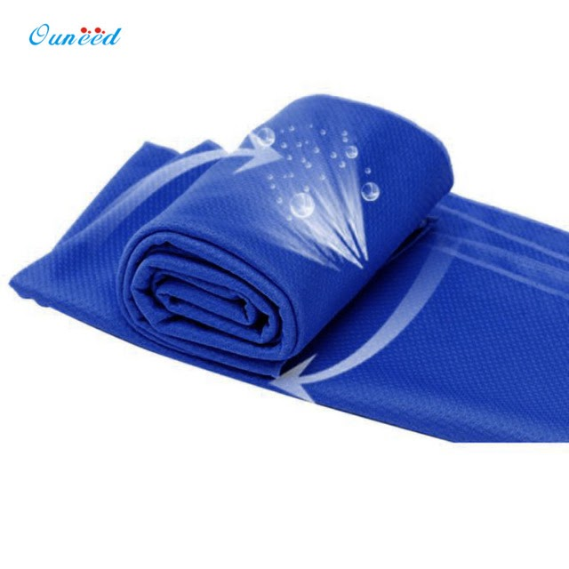 Get Cheap-Ouneed Soft Microfiber 90 * 35cm Cold Sensation Towel Fast Dry Towel Cold Sensation Beach towel Drying Travel Sports Body Towel Best Price