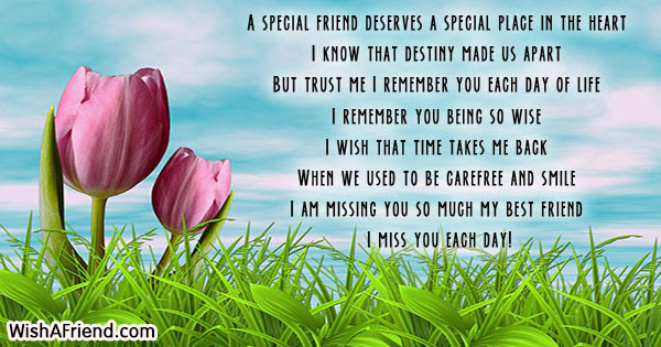 A Special Friend Deserves A Special Missing You Message For Friends