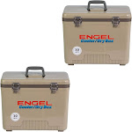Engel Coolers 30 Quart Lightweight Leak Proof Insulated Cooler Drybox (2 Pack) by VM Express