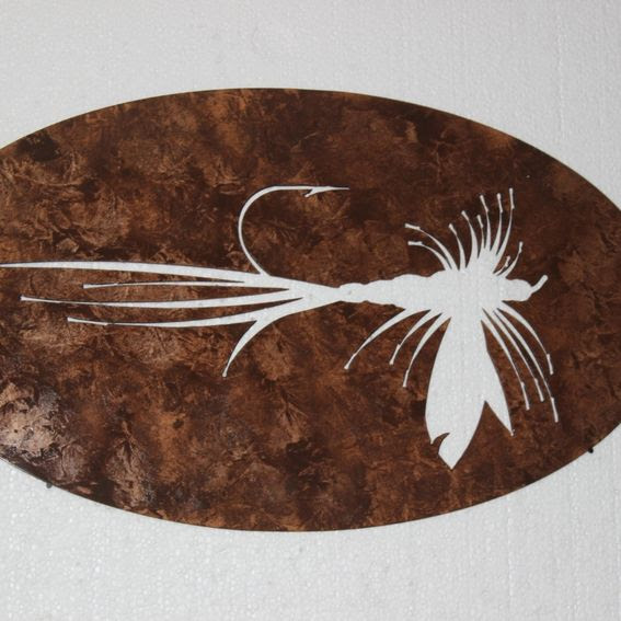 Hand Made Fly Fishing Bait Metal Wall Sign Home Decor by ...