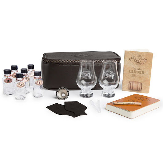 Deluxe Leather Whisky Travel Kit