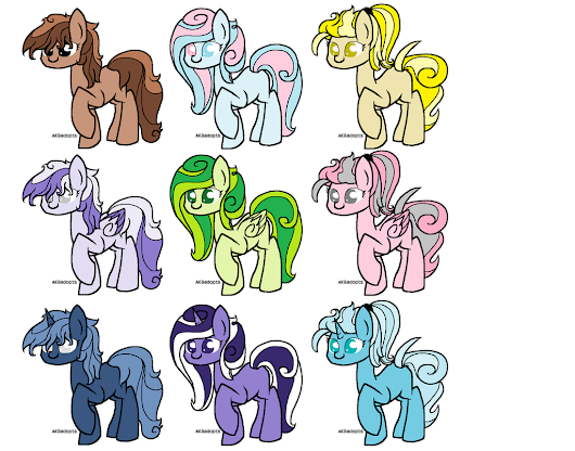 Pony Point Adoptables!! 4 Left!! (OPEN) by ~xXLovingponiesXx on deviantART