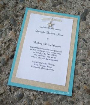 Diy Beach Themed Bridal Shower Invitations