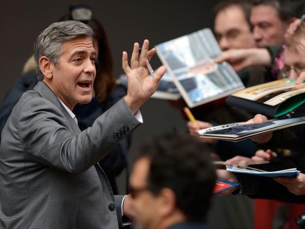 08/02:  George Clooney divulga o filme 'Caçadores de obras-primas' no Festival de Berlim 2014. (Foto: AFP PHOTO/JOHANNES EISELE)