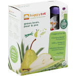 Happy Tot Veggie & Fruit Mix, Green Bean, Pear & Pea - 4 pack, 4.22 oz pouches