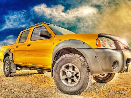 'Goodbye Yellow Dog Nissan Navara Pickup in the Sky' by ChasSinklier