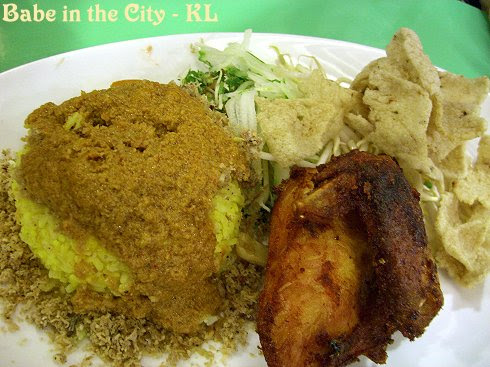 B - nasi kerabu + ayam goreng RM11.90