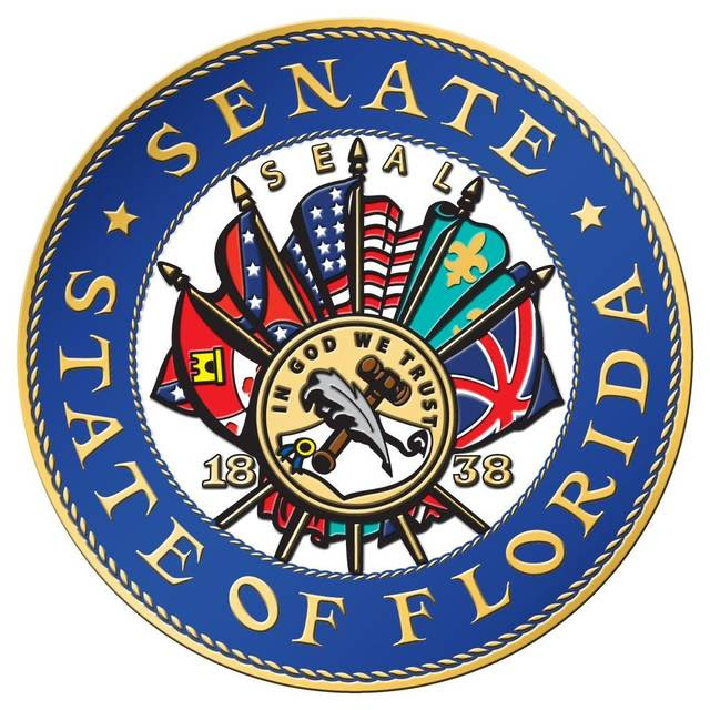 "Per a 1972 rule in the Florida Senate, the chamber's seal contains ""a fan of the five flags that have flown over Florida"" — those of Spain, France, Great Britain, the Confederate States and the United States of America, which senators now say is historically inaccurate."