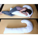 J Full Body Pillow with Hypoallergenic Synthetic Fiber Filler CO92481