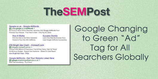 Google Officially Changes to Green Ads Tag in Google Search Results