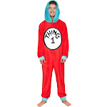 Thing 1 to 6 Interchangeable Patches Adult Union Suit
