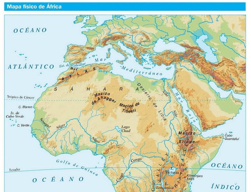 Golfo De Sirte Mapa.Geografia E Historia 1º Eso Mapa De Africa