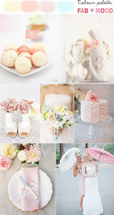Pastel wedding colors palette ideas, pastel wedding color