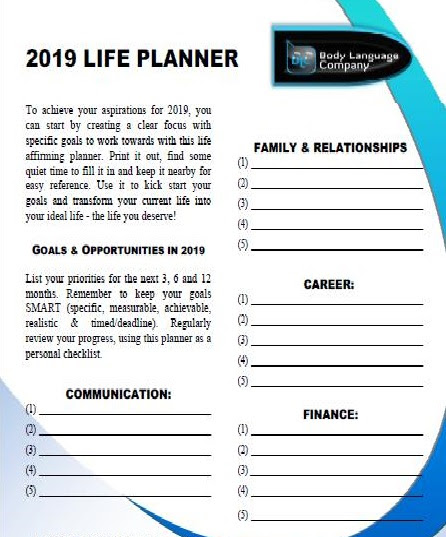 2019 Life Planner | Be Bold Leadership