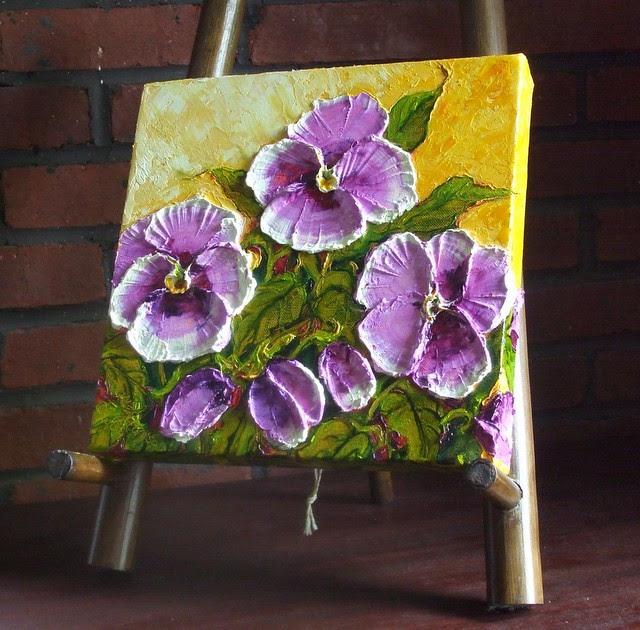 Paris Purple Pansies Oil Painting By Paris Wyatt Llanso