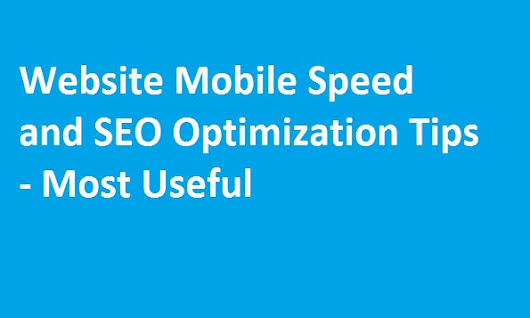 Website Mobile Speed and SEO Optimization Tips - Most Useful - WordPress Theme Store - InsertCart