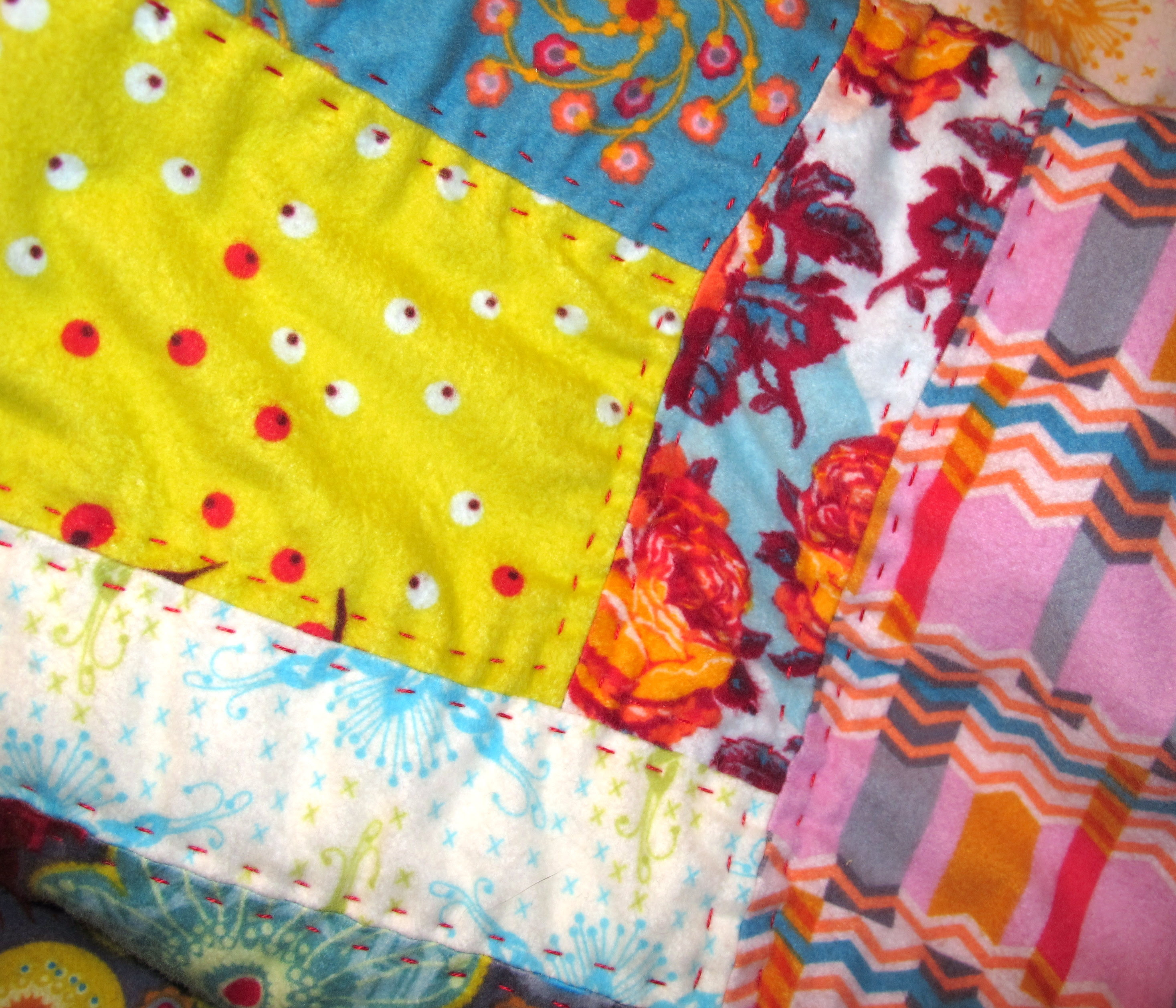 Handquilting with perle cotton