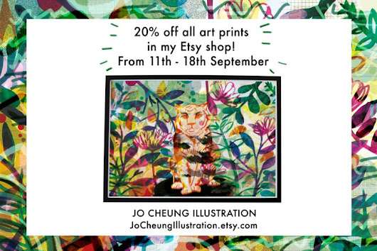 20% off all Art Prints in my Etsy Shop « Jo Cheung Illustration