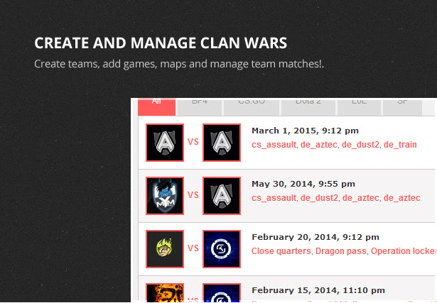 war game website theme