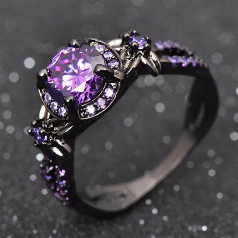 Charming Purple Amethyst Ring   Celtic, Steampunk & Gothic