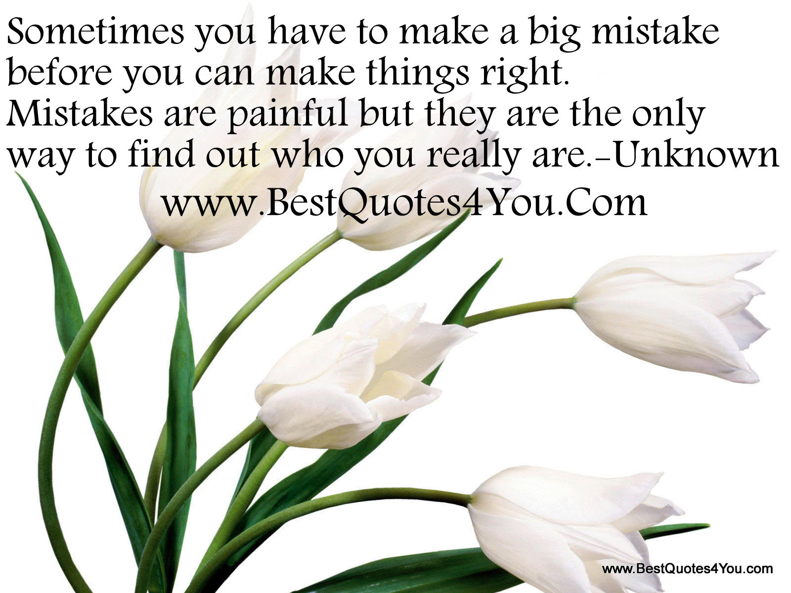 Sometimes You Have To Make A Big Mistake Before You Can Things Right