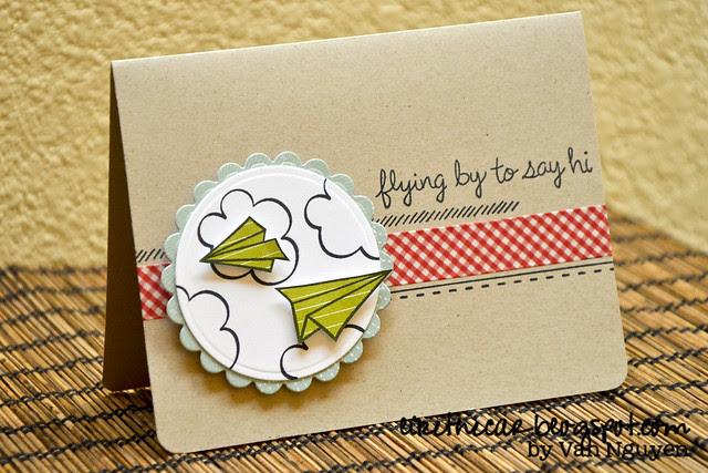 Spellbinders - Lawnscaping - Paper Airplane Card WM