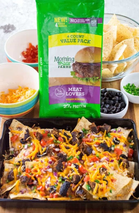 Grilled Fully Loaded Veggie Nachos | A Wicked Whisk