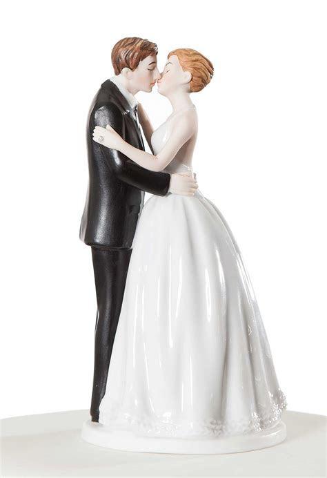 """Romance"" Kissing Couple Wedding Cake Topper Figurine"