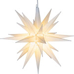 """Kringle Traditions LED Moravian Star Light, Star Outdoor Decoration - 14"""", White"""