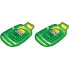 Swimline Inflatable Sun Tan Lotion Bottle Swimming Pool Float Raft (2 Pack)