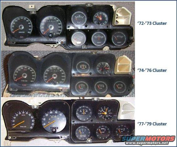 72 79 Gauge Clusters And Wiring Ranchero Us