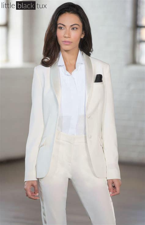womens ivory diamond white tuxedo ladytux shawl collar