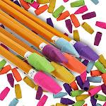 Juvale 200 Bulk Pack Kids Pencil Cap Erasers for School, Assorted Colors